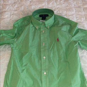 Ralph Lauren Green Button-Down Dress Shirt